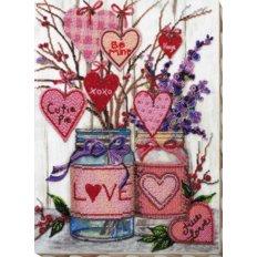 фото: картина, вышитая бисером, О любви