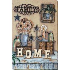 фото: картина, вышитая бисером, Семейный уют