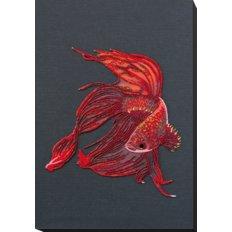 фото: картина, вышитая бисером, Красное золото