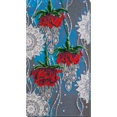 фото: картина, вышитая бисером, Ночные цветы