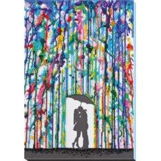 фото: картина, вышитая бисером, Дождь для влюбленных