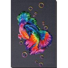 фото: картина, вышитая бисером, Танец радуги