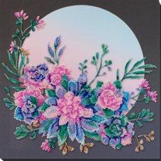фото: картина, вышитая бисером, Лунные цветы
