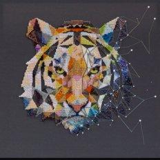 фото: картина, вышитая бисером, Созвездие Тигра
