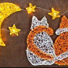фото: картина в технике стринг-арт, Пара кошек