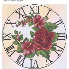 фото: часы, вышитые бисером, Вальс роз