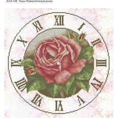 фото: часы, вышитые бисером, Часы Романтическая роза