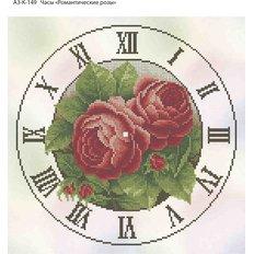 фото: часы, вышитые бисером, Часы Романтические розы