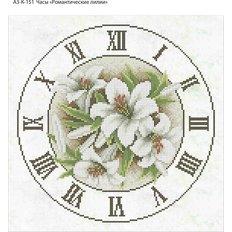 фото: часы, вышитые бисером, Часы Романтические лилии