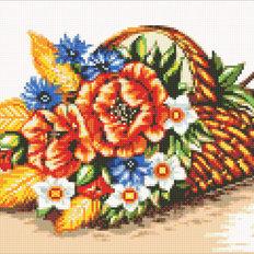 фото: картина в алмазной технике Полевые цветы