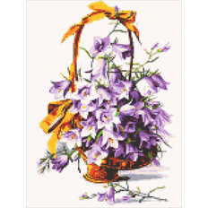 фото: картина в алмазной технике Фиолетовые колокольчики