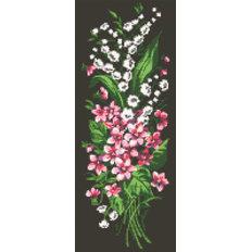 фото: картина в алмазной технике Лесные цветы