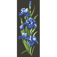 фото: картина в алмазной технике Синие ирисы