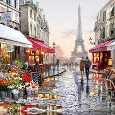 фото: картина в алмазной технике Улочки Парижа