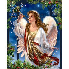 фото: картина в алмазной технике Ангел Рождества