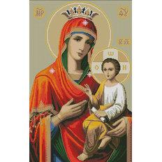 изображение: икона в алмазной технике Богородица Иверская