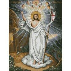 изображение: икона в алмазной технике Воскресение