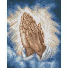 фото: картина в алмазной технике Молитва