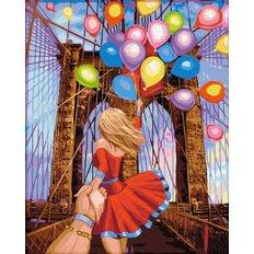 фото: картина в алмазной технике Следуй за мной: Бруклинский мост