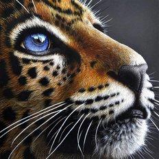фото: картина в алмазной технике Взгляд леопарда