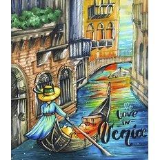 фото: картина в алмазной технике Love in Venice