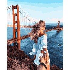 фото: картина в алмазной технике Следуй за мной: мост Золотые ворота