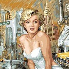 фото: картина в алмазной технике Легендарная Мэрилин Монро