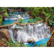 фото: картина в алмазной технике Сказочный водопад