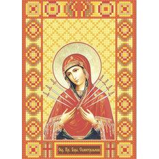 изображение: икона в алмазной технике Икона Богородица Семистрельная