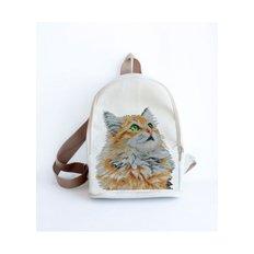 фото: сшитый рюкзак для вышивки бисером или нитками Рыжий кот