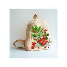 фото: сшитый рюкзак для вышивки бисером или нитками С Рождеством