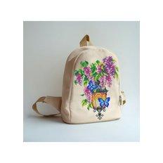 фото: сшитый рюкзак для вышивки бисером или нитками Свет любви