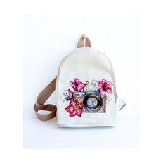 фото: сшитый рюкзак для вышивки бисером или нитками Фотоаппарат