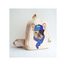 фото: сшитый рюкзак для вышивки бисером или нитками Француз