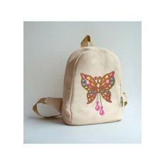 фото: сшитый рюкзак для вышивки бисером или нитками Ювелирная бабочка