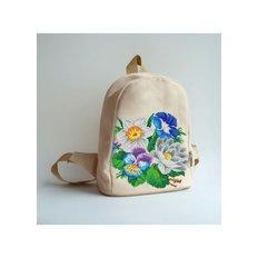 фото: сшитый рюкзак для вышивки бисером или нитками Нежный букет