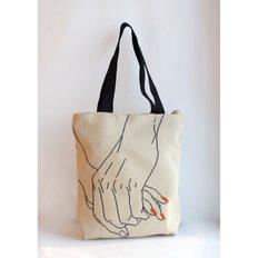 фото: сшитая сумка для вышивки бисером или нитками За руки