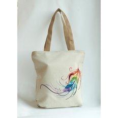 фото: сшитая сумка для вышивки бисером или нитками Перо