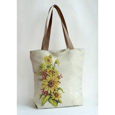 фото: сшитая сумка для вышивки бисером или нитками Солнечный букет