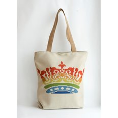 фото: сшитая сумка для вышивки бисером или нитками Корона