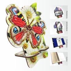 Набор в технике алмазная вышивка Подставка под телефон Бабочка в ромашках