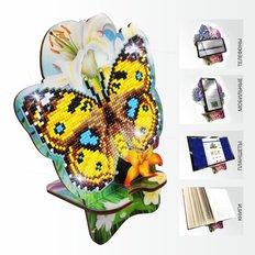Набор в технике алмазная вышивка Подставка под телефон Бабочка и Лилии