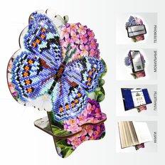 Набор в технике алмазная вышивка Подставка под телефон Бабочка и Гортензия