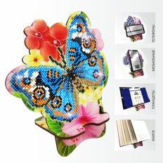 Набор в технике алмазная вышивка Подставка под телефон Бабочка и Орхидея
