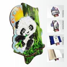 Набор в технике алмазная вышивка Подставка под телефон Пандочка в бамбуковой роще