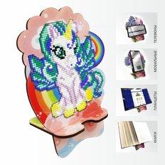 Набор в технике алмазная вышивка Подставка под телефон Единорожек на радуге