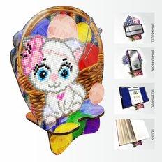 Набор в технике алмазная вышивка Подставка под телефон Кошечка Рукодельница