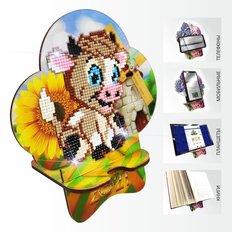 Набор в технике алмазная вышивка Подставка под телефон Бычок. Happy New Year 2021