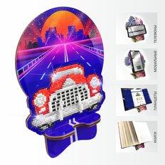 Набор в технике алмазная вышивка Подставка под телефон Ретроавтомобиль