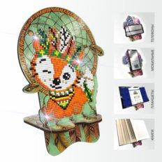 Набор в технике алмазная вышивка Подставка под телефон Лисенок. Ловец снов